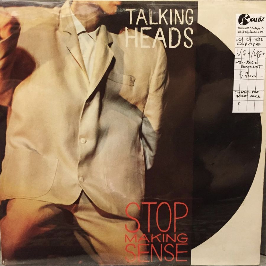 Talking Heads Stop Making Sense used vinyl | Kalóz Record Store Budapest